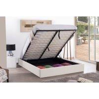 Cadre lit coffre 140x190 Blanc | Maison et Styles