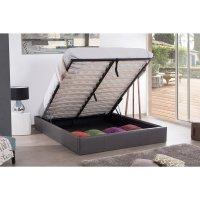 Cadre lit coffre 140x190 Gris | Maison et Styles