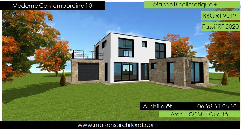 Contemporary and modern house design Architect manufacturer wood - Plan De Maison Originale