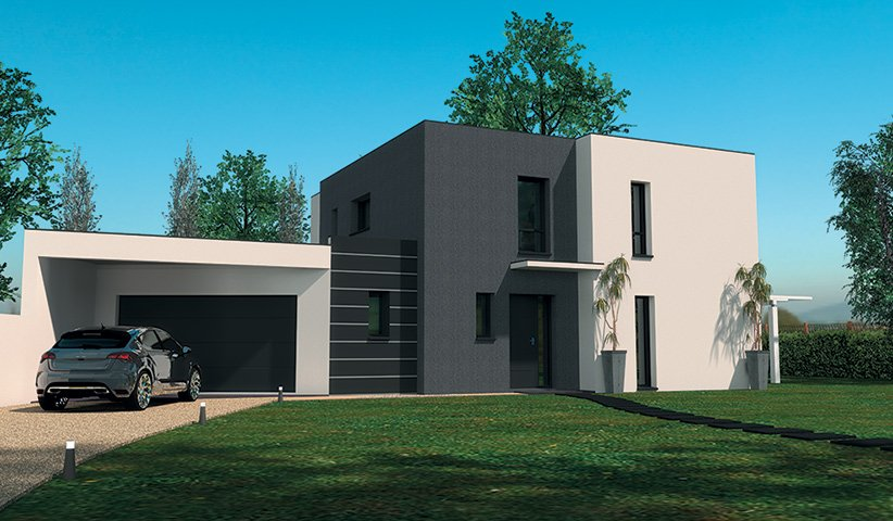 maison-design-b3-4995jpg (822×480) Houses Exteriors Pinterest - facade de maison moderne