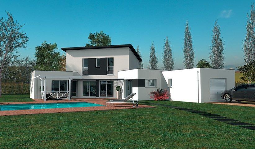 maison-design-k2-1450jpg (822×480) Houses Exteriors Pinterest - Modeles De Maisons Modernes