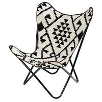 Black and white patterned kilim armchair Palmyre | Maisons ...