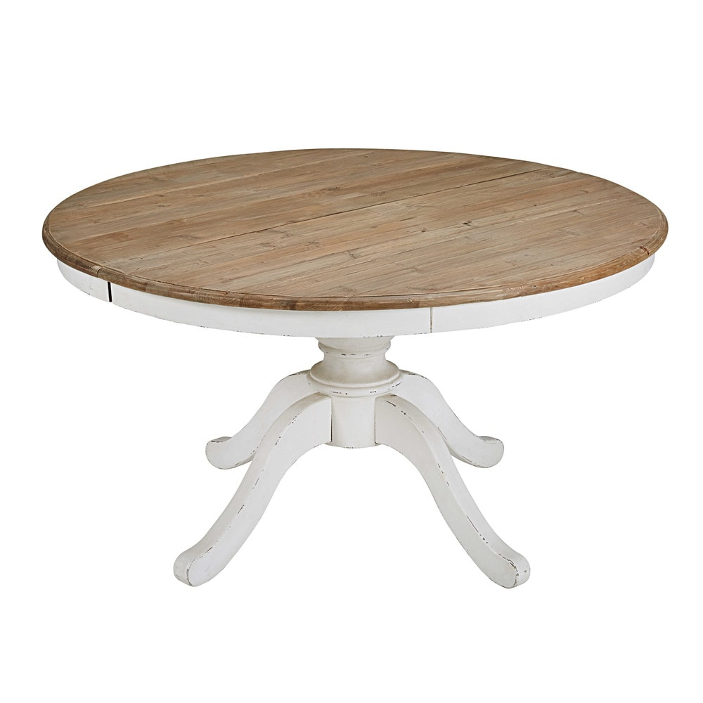 Round Extendable Dining Table L 140cm Provence