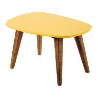 Wooden vintage coffee table in yellow W 75cm Janeiro ...
