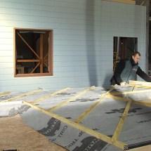 Préparation atelier mur en ossature bois