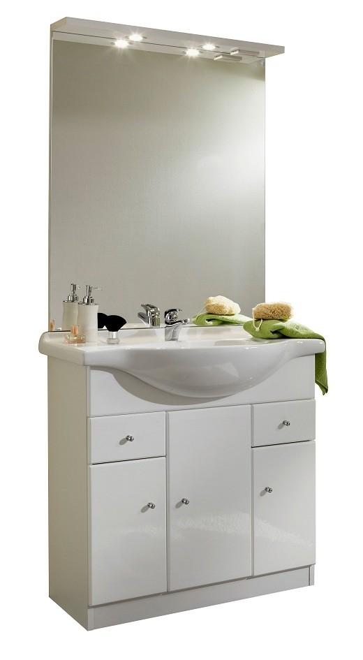 Ensemble meuble vasque pas cher - maison parallele - Meuble Avec Miroir Pour Salle De Bain