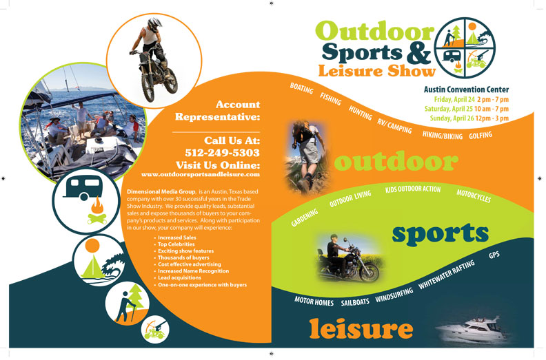 Outdoor Sports and Leisure Brochure \u2013 Majestic Bulldog Design - sports brochure