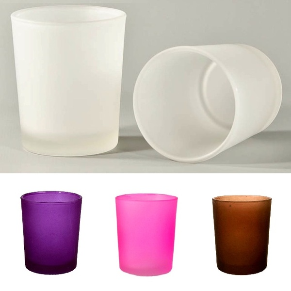 Frosted Votive Glass Tealight Candle Holders