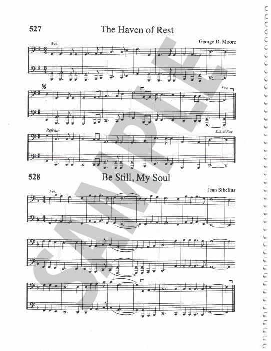 Rejoice Hymns Orchestration Bass Clef C Bass Bass8vb - bass cleft sheet music
