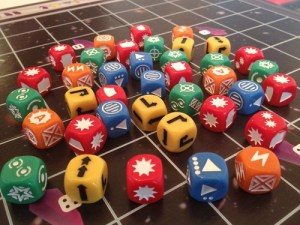 Space Cadets dice