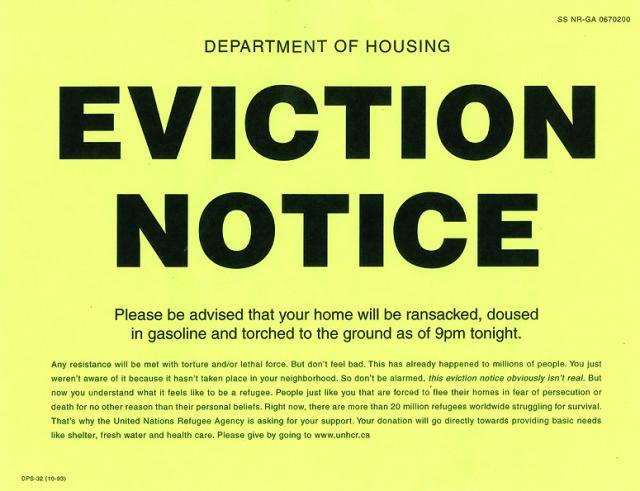Eviction notice - the latest email scam containing malware - MajorGeeks