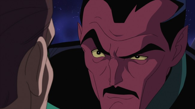 "Sinsetro tries to get past his frustration as he trains Hal Jordan in ""Green Lantern: First Flight,"" the all-new DC Universe animated original movie set for distribution July 28, 2009 by Warner Home Video."