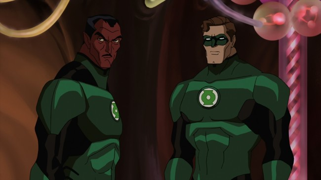 "Sinestro and Hal Jordan assess an oncoming battle in ""Green Lantern: First Flight,"" the all-new DC Universe animated original movie set for distribution July 28, 2009 by Warner Home Video."