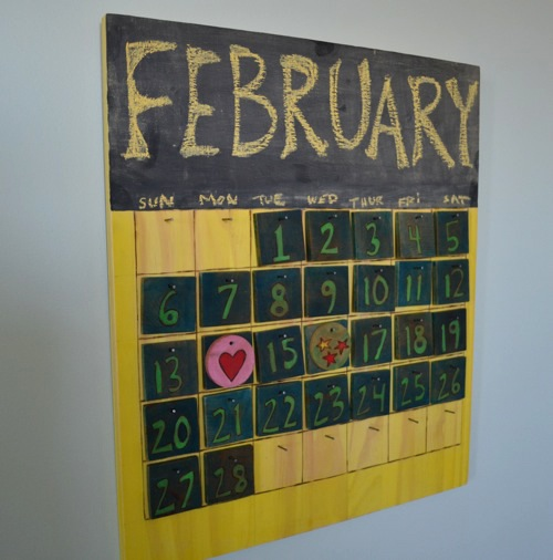 Kids Wooden Perpetual Calendar Project