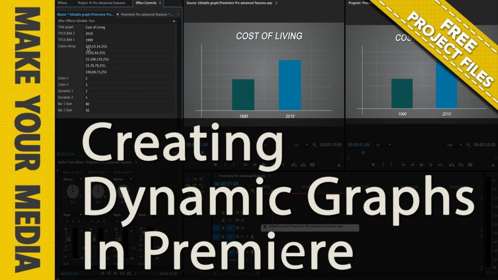 Free 2 Bar Graph Template For Premiere Pro (And After Effects - bar graph templates free