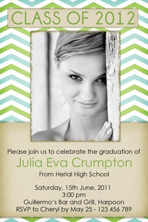 Modern Graduation Invitations for college grads