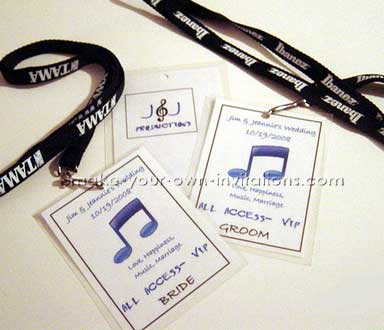 Concert Ticket Wedding Invitations - make your own concert tickets