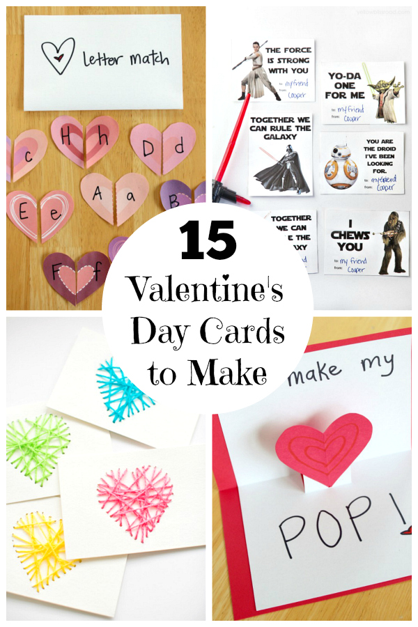 15 Valentine\u0027s Day Cards for Kids Make and Takes
