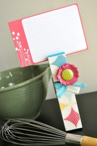 Easy Recipe Card Holder | Make and Takes