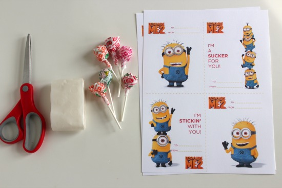Despicable Me 2 Valentine Printable Make and Takes