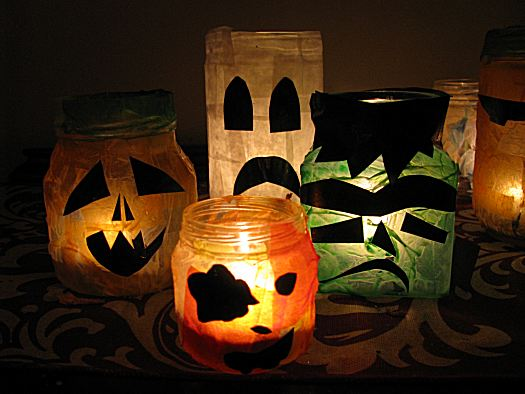 Creature Votive Candles To Spook On Halloween Make And Takes