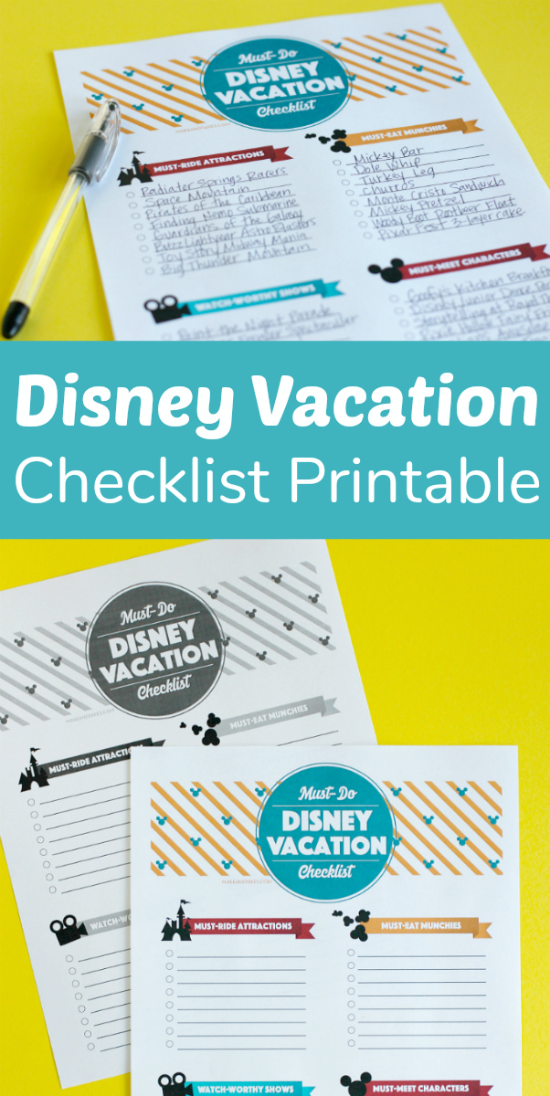 Make the Most of Your Family Disney Vacation + Printable Checklist