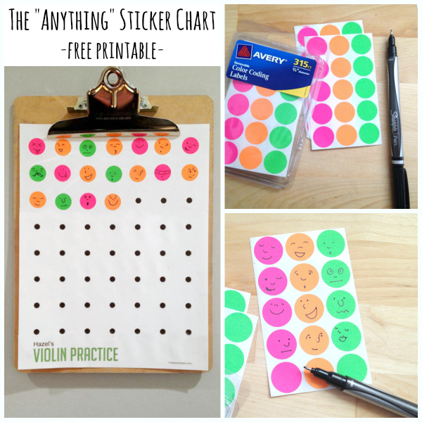 The Anything Sticker Chart - Free Printable! Make and Takes