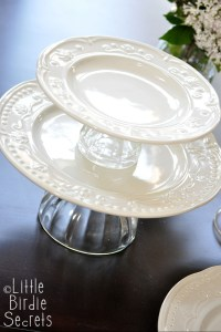 How To Make a Temporary Tiered Serving Plate | Make and Takes
