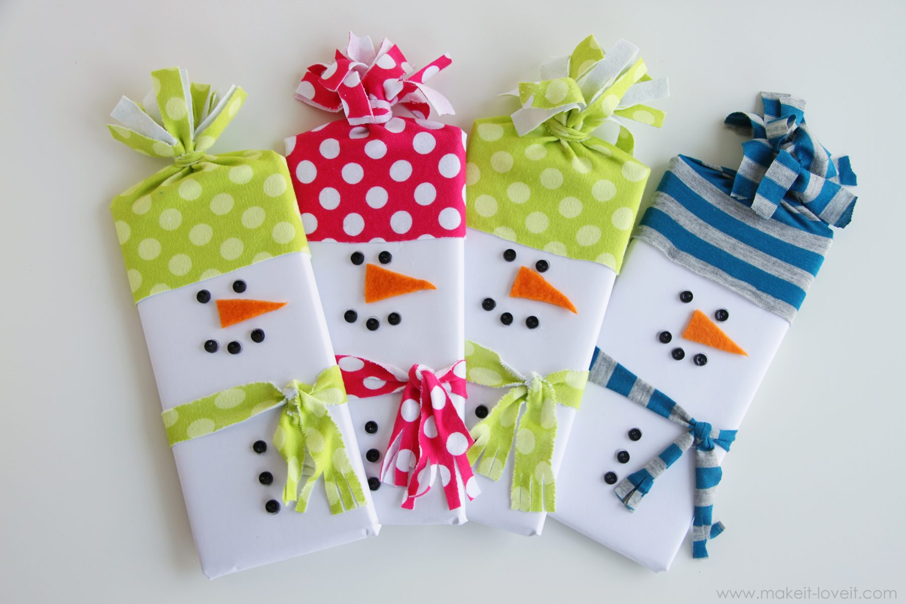 Snowman Wrapped Candy Gifts Make It And Love It