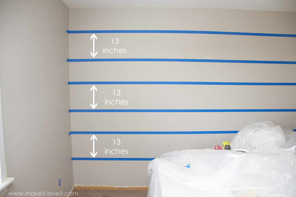 How To Paint {{Super Straight}} Horizontal Stripes | Make It And