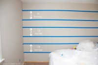 How to Paint {{Super Straight}} Horizontal Stripes | Make ...