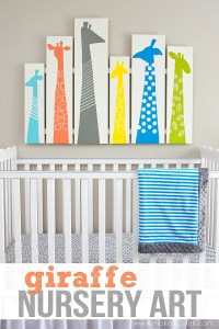 DIY Giraffe Nursery Art (or any other room!) | Make It and ...