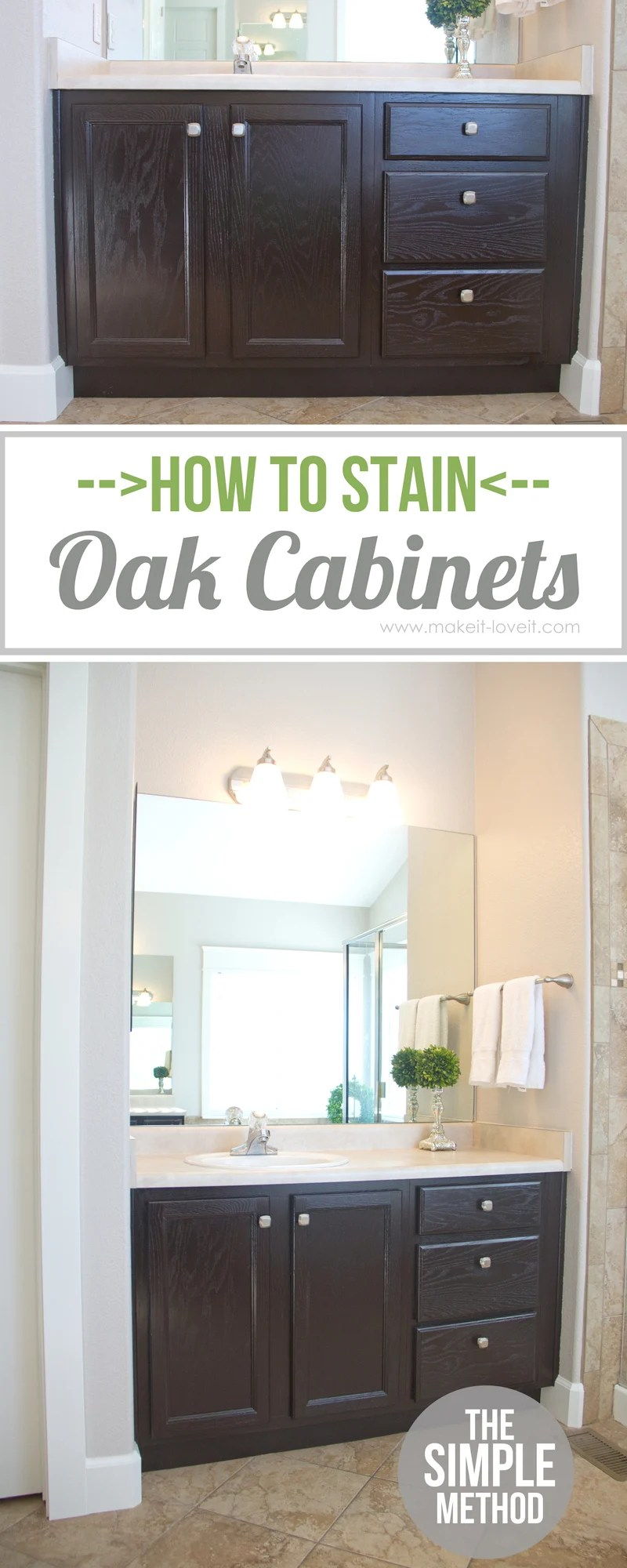 how to stain oak cabinets the simple method without sanding staining kitchen cabinets How to Stain OAK Cabinets the simple method no sanding necessary