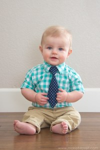 """Making the """"Little Guy Tie""""...for Oliver! 