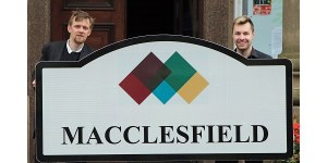 New town signs for Macclesfield