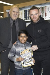 Soccer hero Wayne makes it evening to remember for young authors