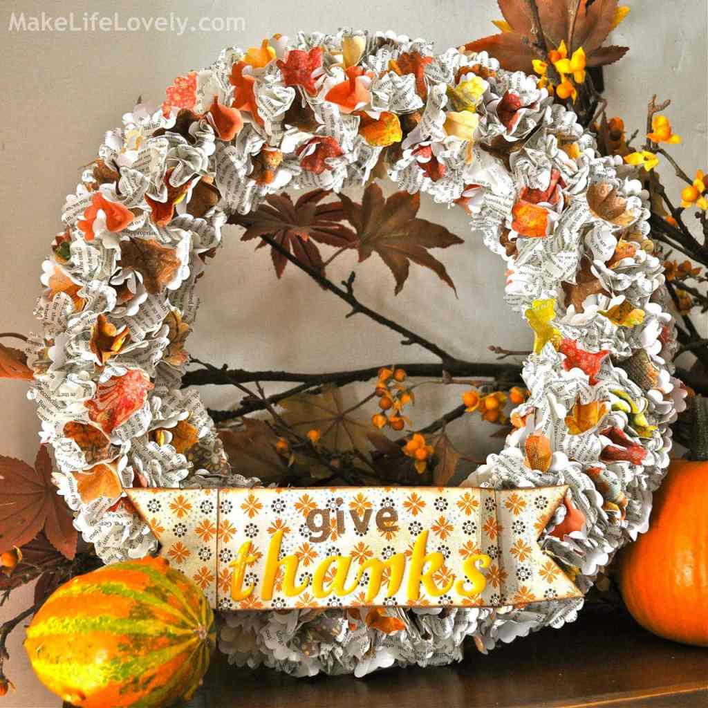 DIY Fall Thanksgiving Wreath Tutorial