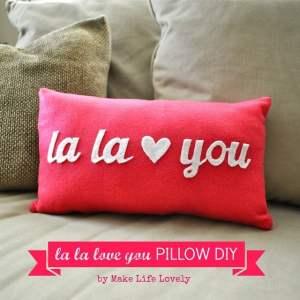 La La Love You Valentine Pillow