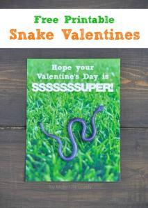 Free Printable Snake Valentines