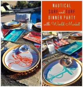 Surf and Turf Dinner Party + Rosemary Potato & Yogurt Dipping Sauce Recipe