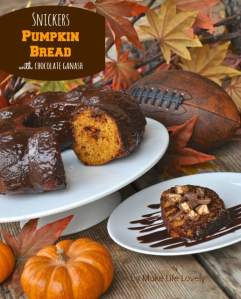 Snickers Pumpkin Bread with Chocolate Ganache Recipe + $2 Coupon