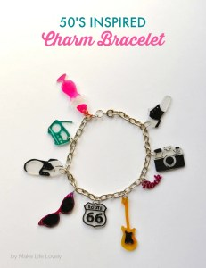 1950's Shrinky Dinks Charms Bracelet