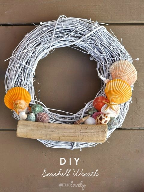 DIY Seashell Wreath | by Make Life Lovely