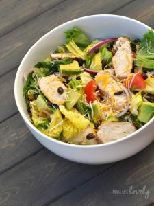 Grilled Chopped Chicken Salad