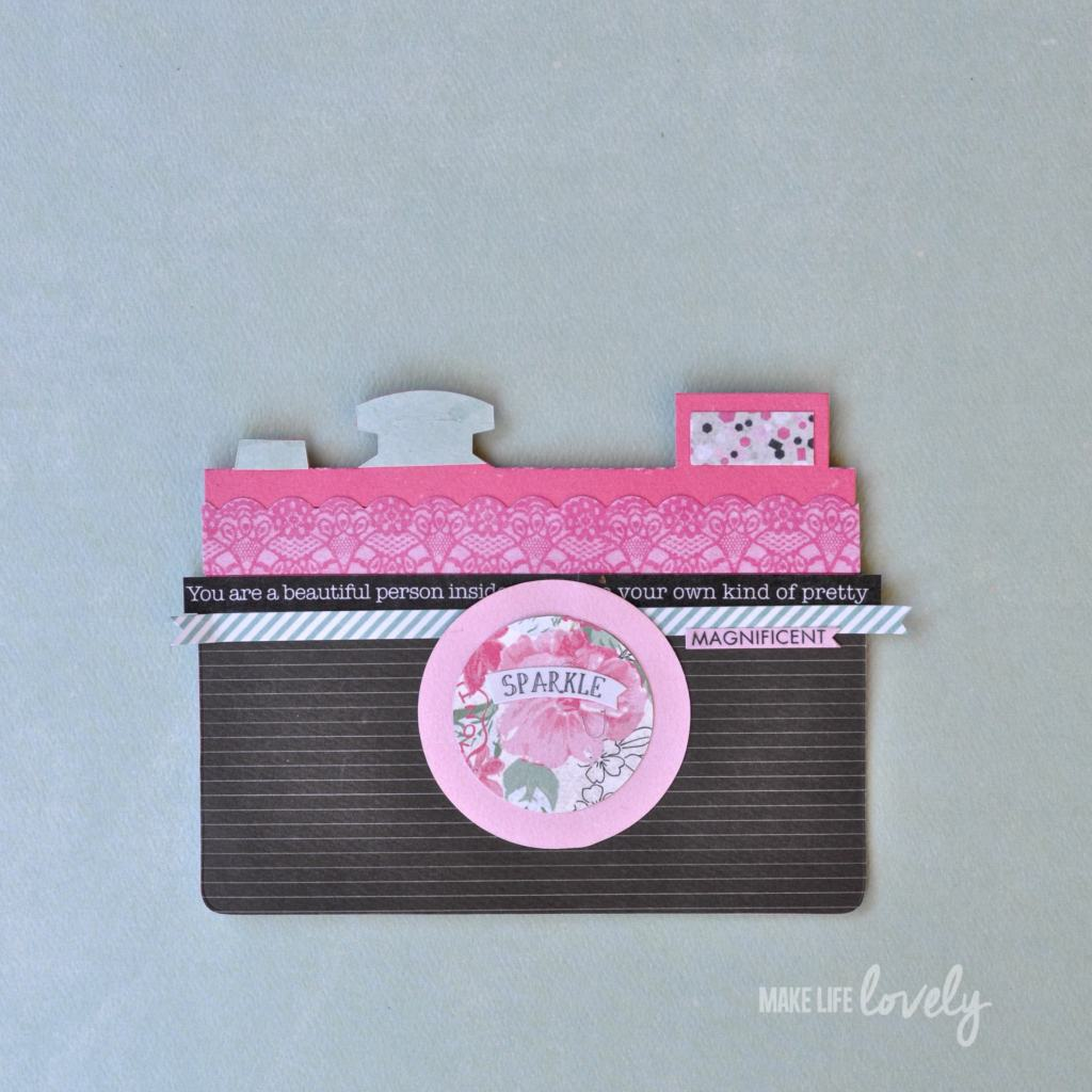 Camera Card using the SIzzix Retro Camera die