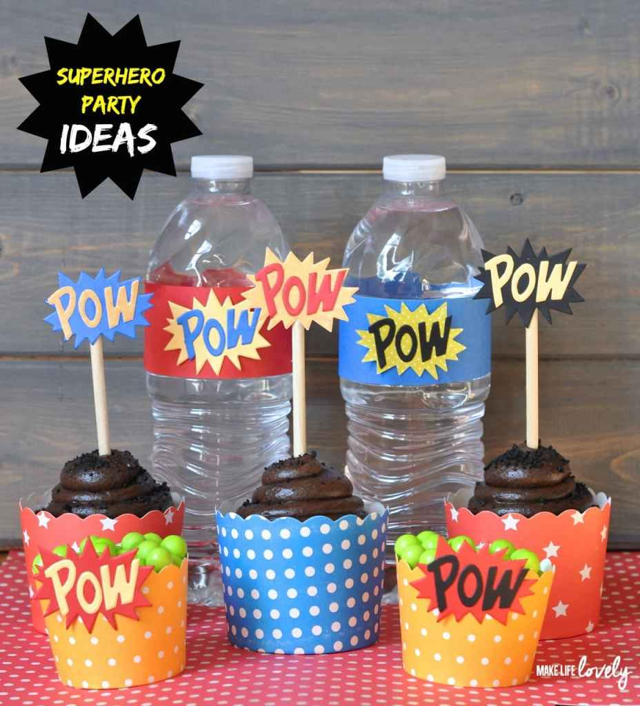 Superhero Party Ideas  by Make Life Lovely