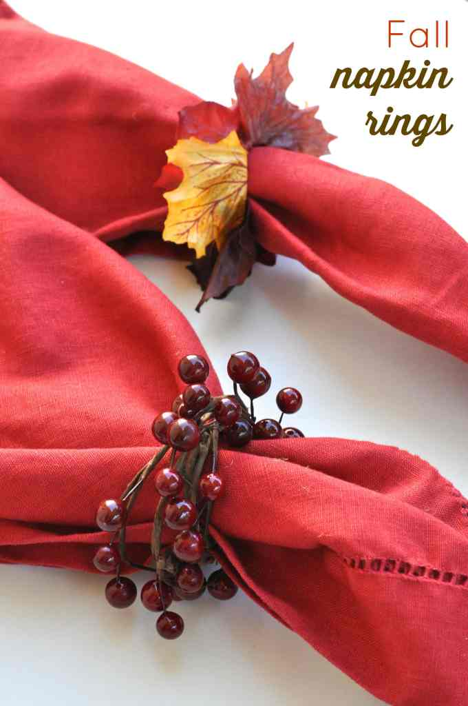 Fall napkin rings