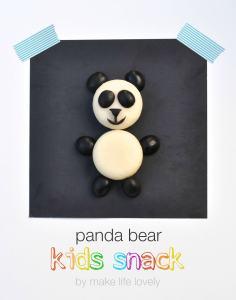 Panda Bear Food Art