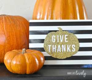 Modern Thanksgiving Card with Sizzix