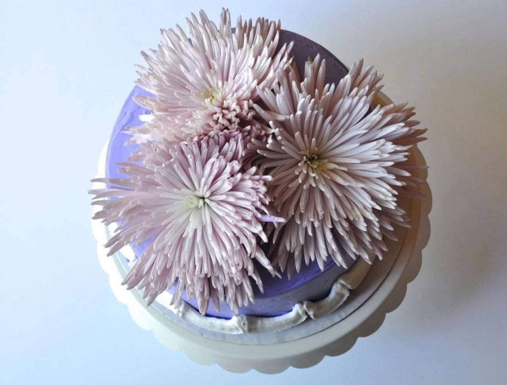 Princess Cake with Fresh Flowers